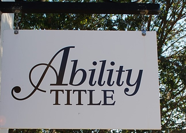 Ability Title Sign